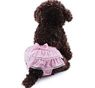 Недорогие -Кошка / Собака Брюки Одежда для собак Горошек / Бант Желтый / Синий / Розовый Хлопок Костюм Для домашних животных Жен. Косплей / Свадьба