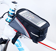 ROSWHEEL Bike Frame Bag Cell Phone Bag 5.5 inch Waterproof Zipper Wearable Moistureproof Shockproof Touch Screen Cycling for Iphone 8