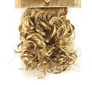 Недорогие -На клипсе Конские хвостики Эластичный Оберните вокруг Искусственные волосы Волосы Наращивание волос Кудрявый