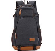 Недорогие -15inch ноутбук сумка рюкзак сумка холст для студента / путешествия синий / черный / хаки / кофе