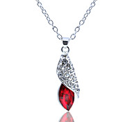 Women's Pendant Necklaces Crystal Rhinestone Alloy Fashion Dark Blue Purple Red Green Light Blue Jewelry Wedding Party Daily Casual 1pc
