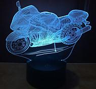 новая модель мотоцикла 3 d светильника касания водить видение лампы подарок украшение атмосфера настольная лампа с изменением цвета свет