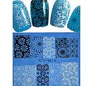1pcs  New Nails Art  Lace Sticker Colorful Image Design Manicure Nail Art Tips STZ-V006-010
