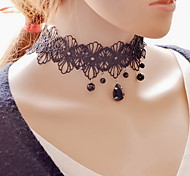 cheap -Women's Lace Choker Necklace Pendant Necklace Tattoo Choker - Tattoo Style Sexy Fashion Jewelry Black Necklace For Party Daily Casual