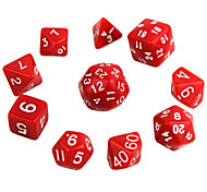 cheap -Exquisite Polyhedral Acrylic Dice (10 PCS)