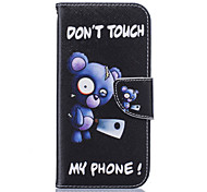 Blue Bear Pattern Card Phone Holster for Samsung Galaxy S5/S6/S7/S6 edge/S7 edge
