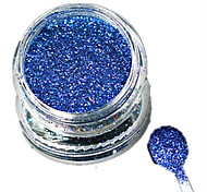 1 Bottle Nail Art Laser Beautiful Dark Blue Glitter Shining Powder Manicure Makeup Decoration Nail Beauty L11