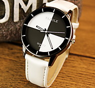 Couple's Fashion Watch Quartz Casual Watch PU Band Black White Red Pink