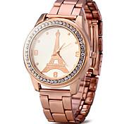 Жен. Нарядные часы Модные часы Имитационная Четырехугольник Часы Кварцевый / Имитация Алмазный Позолоченное розовым золотом Нержавеющая
