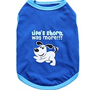 cheap -Cat Dog Shirt / T-Shirt Dog Clothes Animal Blue Cotton Costume For Pets Men's Women's Fashion