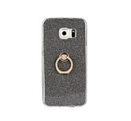 Недорогие -Кейс для Назначение SSamsung Galaxy Samsung Galaxy S7 Edge Кольца-держатели Кейс на заднюю панель Сияние и блеск Мягкий ТПУ для S7 edge