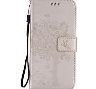 Недорогие -Для Samsung Galaxy S7 Edge Кошелек / Бумажник для карт / со стендом / Флип / Рельефный Кейс для Чехол Кейс для дерево МягкийИскусственная