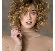 cheap -Synthetic Wig Curly Side Part Fashion Blonde Women's Capless Natural Wigs Short Synthetic Hair Daily Wear