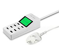 EU Plug Phone USB Charger Multi Ports cm Outlets 8 USB Ports 2.1A 2A 1A 0.5A AC 100V-240V