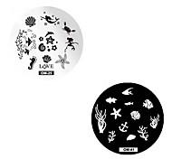 cheap -2pcs Stamping Plate Stylish / Fashion Nail Art Design Fashionable Design Daily