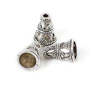 beadia 10pcs античный серебряные шарики сплава 9x12mm разделительные бусины&бисер колпак