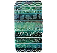 Kinston® Green Totems Pattern PU Leather Case For iPhone 7 7 Plus 6s 6 Plus SE 5s 5c 5 4s 4