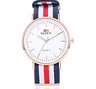 SOXY® Men Luxury Brand Rose Gold  Watches  Nylon Strap 40 mm Men Wristwatches Fashion Quartz Watch Relogio Masculino