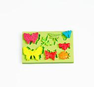 мультяшная божья коровка стрекоза бабочка силиконовая форма торт украшения инструменты цвет случайный