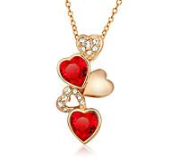 abordables -Mujer Corazón Moda Collares con colgantes Circonita Zirconio Zirconia Cúbica Chapado en Oro Collares con colgantes , Boda Fiesta Diario
