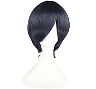 Cosplay Wigs Black Butler Ciel Phantomhive Blue / Gray Short Anime Cosplay Wigs 32 CM Heat Resistant Fiber Male / Female