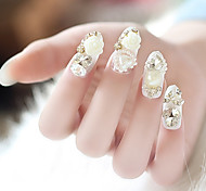 24PCS Fashion Jewel Decorate Nail Tips