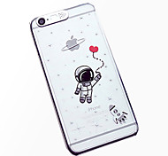 астронавт модель ЖК чувство свет вспышки за задней стороны обложки iPhone 6 / 6с