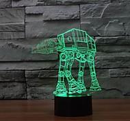 3D LED свет ночи бытовые украшения звездные войны