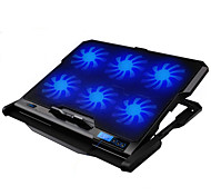 cheap -LED Screen 6 Fans Adjustable Cooler Cooling Pad laptop cooling stand