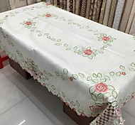 cheap -Polyester Rectangular Table Cloth Floral Patterned Eco-friendly Table Decorations