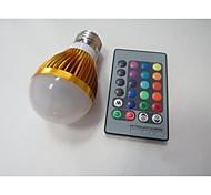 E26/E27 LED Smart Bulbs A60(A19) 1 High Power LED 100-230 lm RGB 2000-3500 K Sensor Infrared Sensor AC 85-265 V