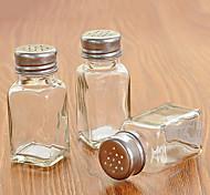 abordables -botella de condimento transparente de cristal botella de condimento transparente con tapa perforada