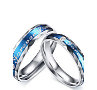 """2016 Fashioin """"Forever Love"""" Stainless Steel Wedding Special Couples  Ring  For Women&Man"""