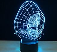 Недорогие -Новизна 3d череп свет лампы Светодиодные украшения свет с USB Power лампы хеллоуинское праздники подарки