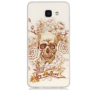 Skull TPU Material Glow in the Dark Soft Phone Case for Samsung Galaxy A310/A510(2016)