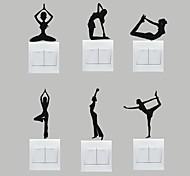 Спорт Наклейки Простые наклейки Декоративные наклейки на стены Наклейки для выключателя света,Винил Украшение дома Наклейка на стену For