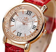 cheap -Women's Fashion Watch Floating Crystal Watch Quartz / Imitation Diamond PU Band Vintage Black White Red Pink
