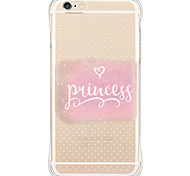 cheap -Pattern Pink Word Soft Shockproof Back Cover Case Foundas For Apple iPhone 6s Plus/6 Plus/iPhone 6s/6/iPhone SE/5s/5