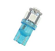 4x ультра-синий T10 SMD 5050 5 светодиодных автомобилей куполом свет карты лицензии W5W 158 192 194 168
