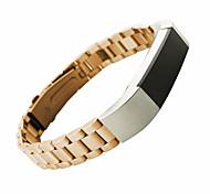 Недорогие -Черный / Золотистый / Серебристый Нержавеющая сталь / Металл Спортивный ремешок / Современная застежка Для Fitbit Смотреть 10mm