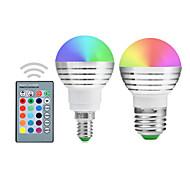 cheap -YWXLIGHT® 300lm E14 E26 / E27 LED Globe Bulbs A50 1 LED Beads Integrate LED Dimmable Decorative Remote-Controlled RGB 85-265V 110-130V