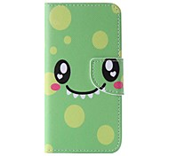 EFORCASE® Green Smile Painted PU Phone Case for iphoneSE 5S 5 6 6S 6plus 6Splus