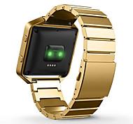Недорогие -Черный / Роуз / Золотистый / Серебристый Металл Классическая застежка Для Fitbit Смотреть 23мм