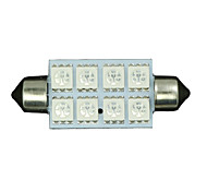 cheap -6X Blue 8-SMD LED Map /Dome Interior Lights Bulbs 42MM Festoon 578 211 212 5050