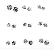 Недорогие -beadia 334pcs смешанный стиль 9&размеров антикварные серебряные шарики сплава крышка металла цветок шарики прокладки