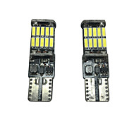 cheap -2pcs Car Light Bulbs SMD 4014 2000lm Decorative Lamp / Side Marker Light / License Plate Light