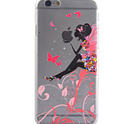 3D Relief Feel Colour Angel Girl Pattern PC Material Phone Shell for iPhone 5 SE 5S 6 6S 6Plus 6S Plus