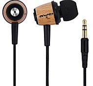 Awei Q9 In Ear Earphone 3.5mm Jack Stereo Hifi Earphone Headphone With 2 Pairs of Earbuds For Xiaomi Meizu Huawei Samsung Phone