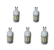 abordables -g9 llevó luces de maíz t 27 smd 5050 380lm blanco cálido blanco frío 3000-3200 / 6000-6500k decorativo ac 220-240v