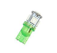 Недорогие -2x нас зеленый T10 192 194 168 автомобиля СИД интерьер& шаблон-лицензия света 5 SMD 5050 шарика